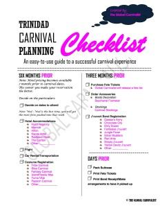 Trinidad Planning Checklist