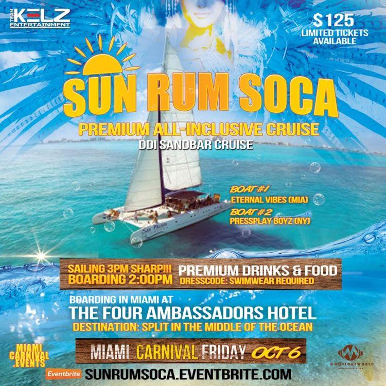 Miami Carnival Boat Ride 2017
